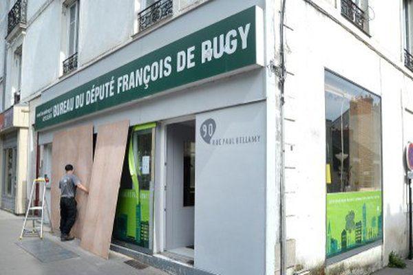 La permanence nantaise de François de Rugy, située rue Paul Bellamy, avait déjà été dégradée en août 2015.