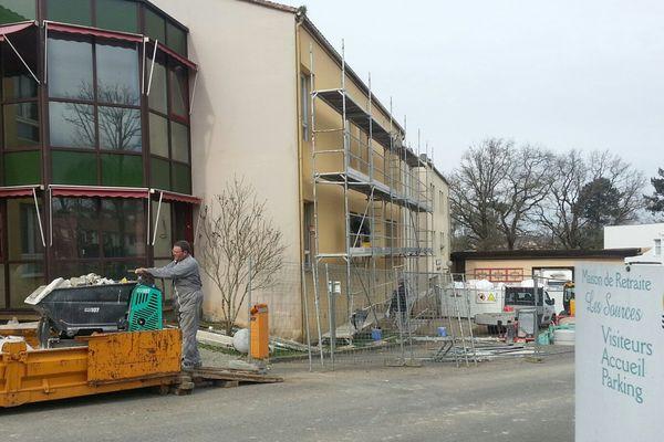 Le chantier de l'Ehpad de Confolens (16)
