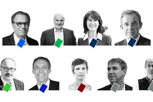 Les 9 candidats têtes de Liste aux élections Régionales 2021 en Paca.