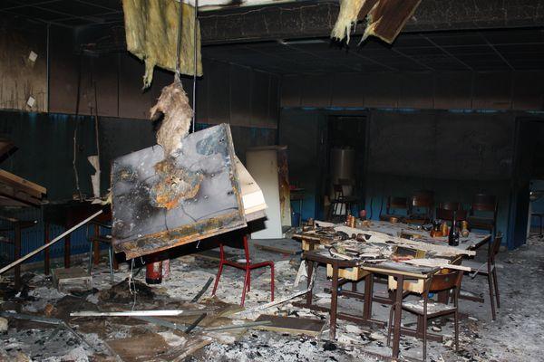 Les dégâts à l'école Jules-Ferry de Templeuve.