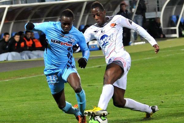 Lors de la rencontre entre le Tours FC et le Stade Lavallois le 15 mars 2013