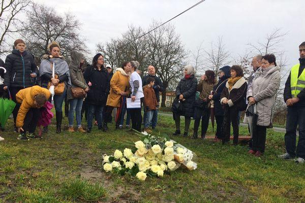 Hommage après la marche blanche pour Tylio, Nieul le Dolent, 15 décembre 2019