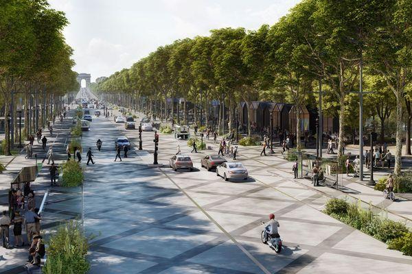 """La consultation pour """"réenchanter"""" l'avenue, présentée par le Comité Champs Élysées et l'agence PCA-STREAM, est disponible en ligne."""