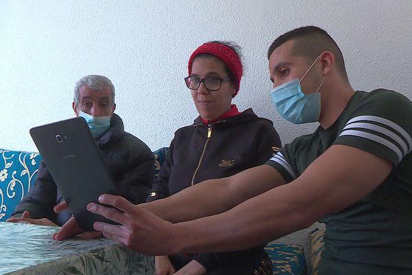 Perpignan - la famille deToufik Belrhitri, détenu décédé en prison il y a 4 mois - 24 février 2021.