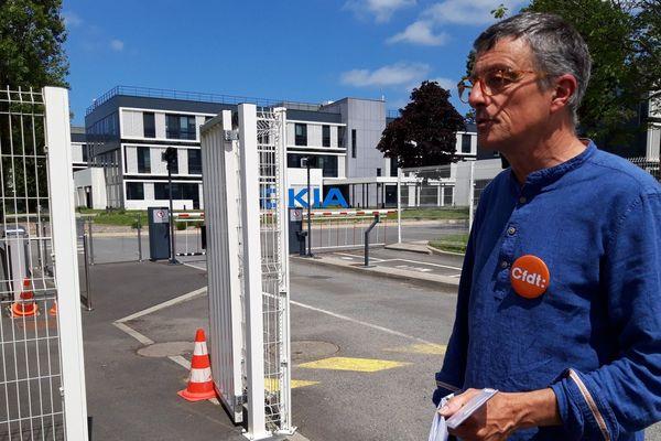 """Bernard Trémulot, délégué CFDT à Lannion, voit le plan de sauvegarde de l'emploi comme """"une trahison""""."""
