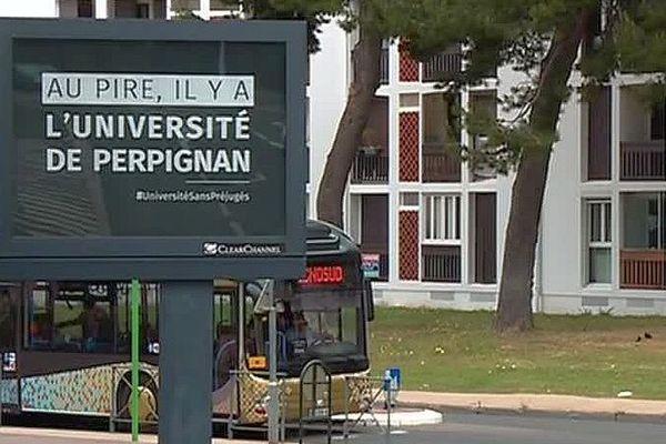 Perpignan - une campagne d'affichage pour l'université qui fait grand bruit - 5 mai 2017.