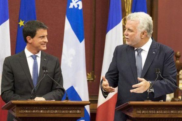 Manuel Valls et Philippe Couillard
