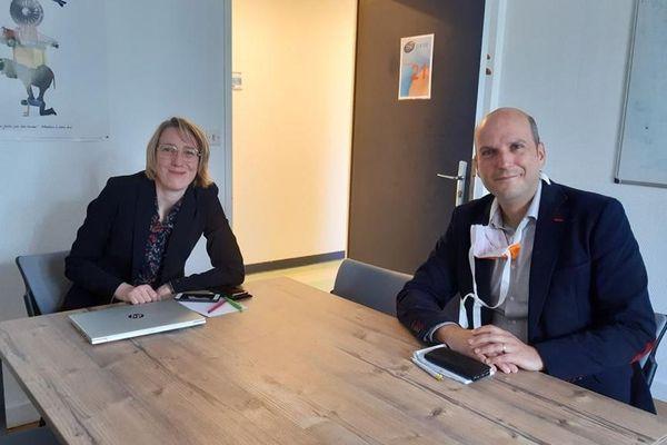 """""""Le CHU de Montpellier a augmenté ses besoins de recrutements estivaux pour l'après-épidémie"""", expliquent Julie Durand (Directrice des Affaires générales) et Julien Delonca (DRH adjoint)"""
