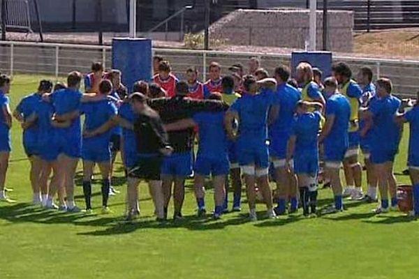 Montpellier - le MHR au grand complet avant la reprise de la saison de Top 14 - août 2014.