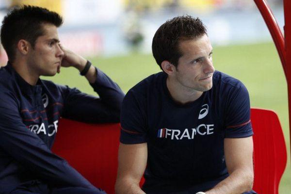 Après l'élimination de Valentin (à gauche) Renaud Lavillenie n'a pas réussi à atteindre son objectif de devenir Champion du Monde de saut à la perche.
