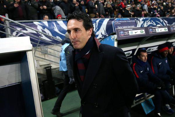 L'entraîneur du PSG Unai Emery, lors du 8ème de finale de la Coupe de France Sochaux-PSG, le 6 février 2018.