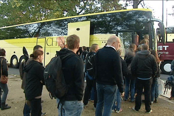 Dix bus sont partis d'Ille et Vilaine pour participer à la manifestation parisienne contre la loi travail