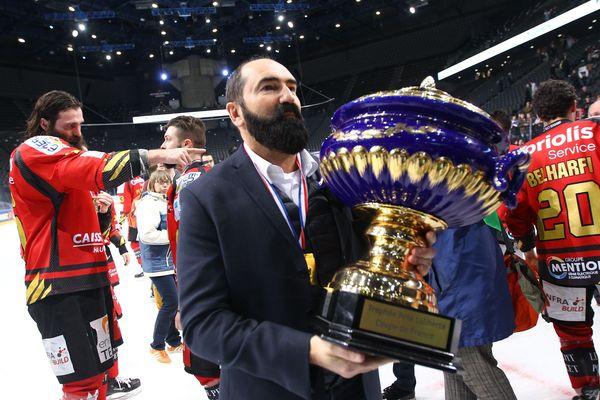 Mario Richer vainqueur de la Coupe de France de hockey avec les Gothiques le 17 février 2019