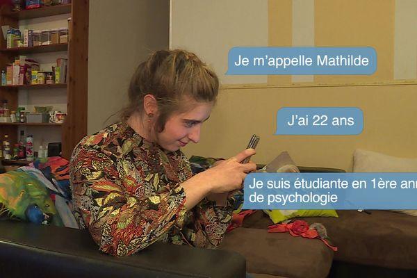 Mathilde, 22 ans, est étudiante en première année de psychologie.