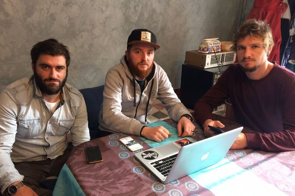 Guerric, Romain et Tom, trois amis d'enfance, réunis au sein de l'association Deeptown
