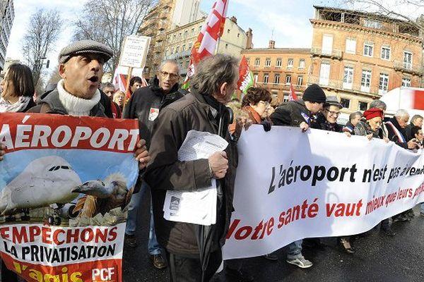 Le collectif contre la privatisation de la gestion de l'aéroport avait déjà manifesté à Toulouse.