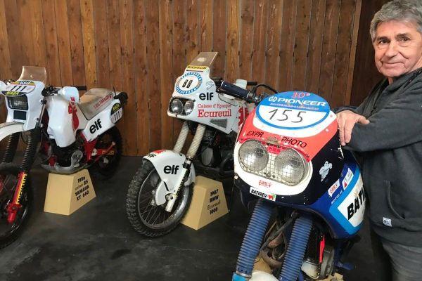 Dans le Puy-de-Dôme, la collection de motos du Dakar de Jean-Pierre André est inestimable.