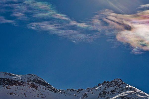 L'irisation photographiée par Pierre Huart depuis Lanslevillard.