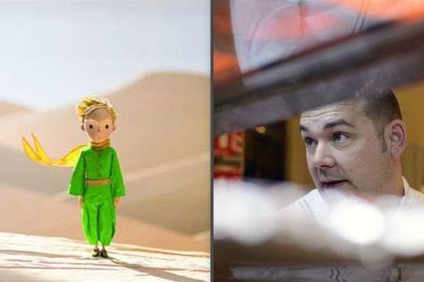 """""""Le Petit Prince"""" adapté au cinéma par Mark Osborne (à gauche) et le chef catalan de Bélesta Laurent Lemal"""