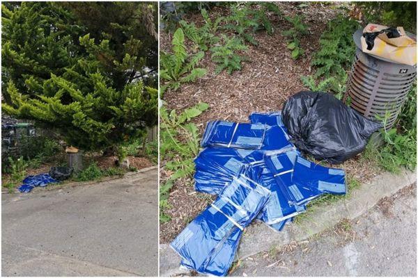 Une centaine de plis électoraux ont été découverts au pied d'une poubelle à l'entrée du cimetière de Ronchin.