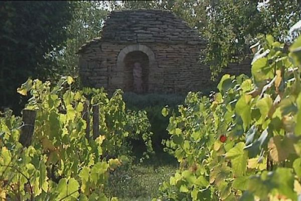 Une ancienne caborde sur le vignoble de Champlitte en Haute-Saône
