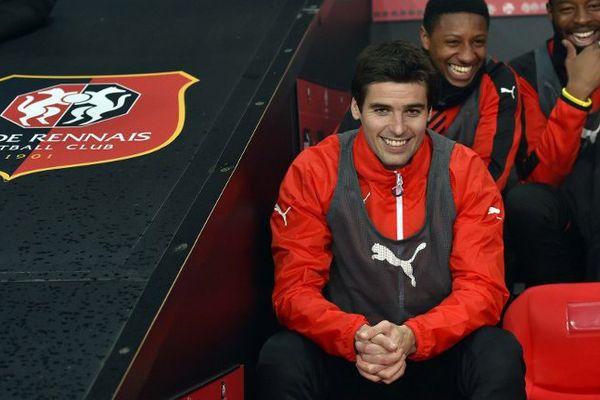 Yoann Gourcuff, heureux sur les bancs du Stade Rennais