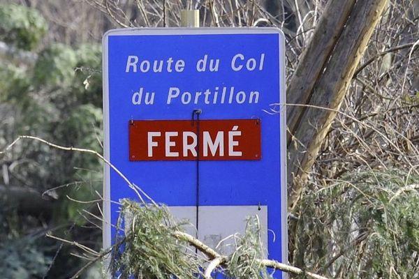 Le Col du Portillon est fermé depuis le 6 janvier 2021.
