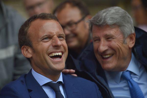 Emmanuel Macron et Philippe de Villiers au Puy du Fou, en 2016.