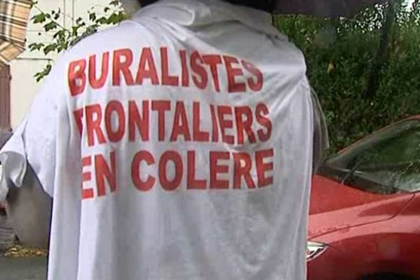 Manisfestation des buralistes au Col d'Ibardin (14/10/2012)