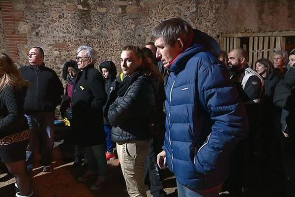 """Réunion du collectif pour le """"Blocage National Contre La Hausse Des Carburants 66"""", au Soler, dans les Pyrénées-Orientales - 3 novembre 2018"""