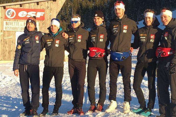L'équipe de France de combiné nordique présente à Chaux-Neuve