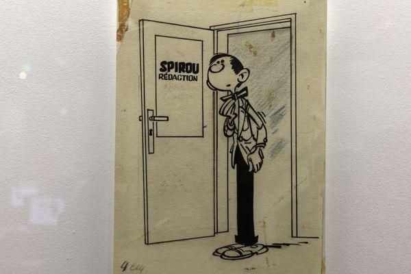 La première apparition de Gaston Lagaffe, exposée au Centre Pompidou, en mars