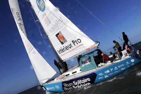 Rhum Solitaire/Rhum Solidaire, le bateau de Christophe Souchaud spécialement aménagé pour accueillir des personnes handicapées.