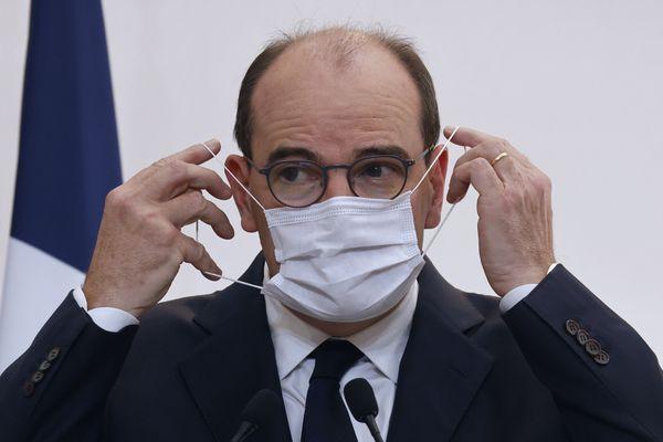 Le Premier ministre, Jean Castex, lors de la conférence de presse du 15 octobre.
