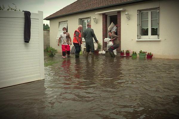 La ville de Bernay a été touchée par les inondations en juin 2021