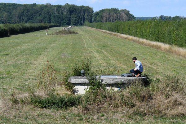 Station de pompage, Villevieux, 2 septembre 2020. Ce captage qui alimente en eau potable les habitants des environs de Lons-le-Saunier est à un niveau historiquement bas.