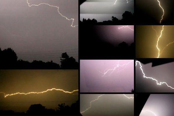 Image d'illustration (photos de l'orage de la nuit du 11 au 12 juin prises à côté de Thiberville, dans l'Eure)