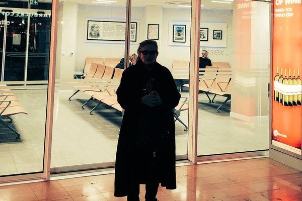 Carrie Fisher avait posté sur Twitter cette photo, prise à Calais, le 21 décembre.