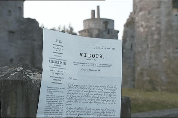 Une lettre de Vidocq attend les joueurs de l'escape game du château de la Hunaudaye
