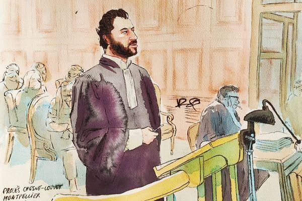 Montpellier - Me Mathieu Montfort, avocat de la fille et de l'ex-compagne de la victime Patrick Isoird, lors de sa plaidoirie - 28 janvier 2021.