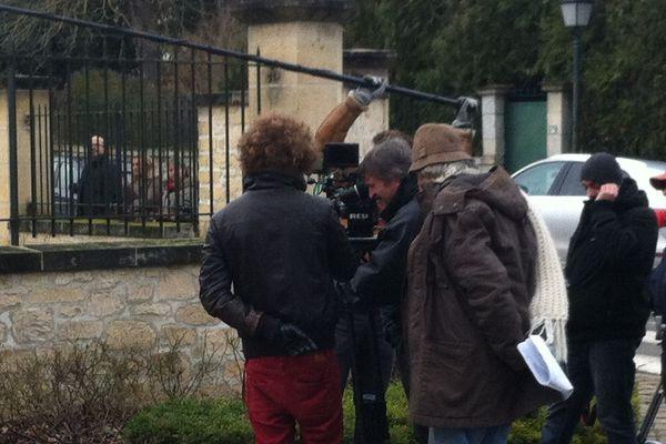 Jean-Pierre Mocky en tournage à Apremont dans l'Oise