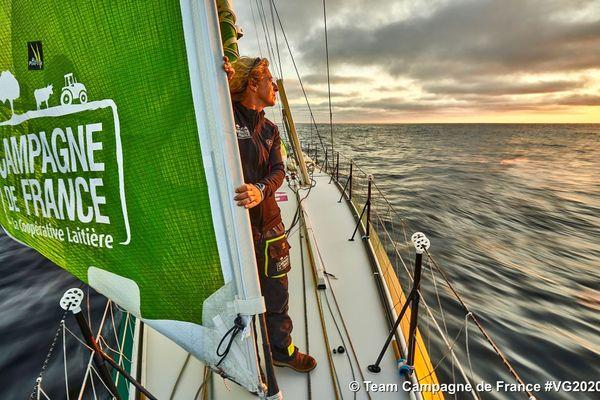 En 2016, aucune femme n'avait participé au Vendée Globe, elles seront 6 au départ le 8 novembre dont Miranda. • © Team Campagne de France