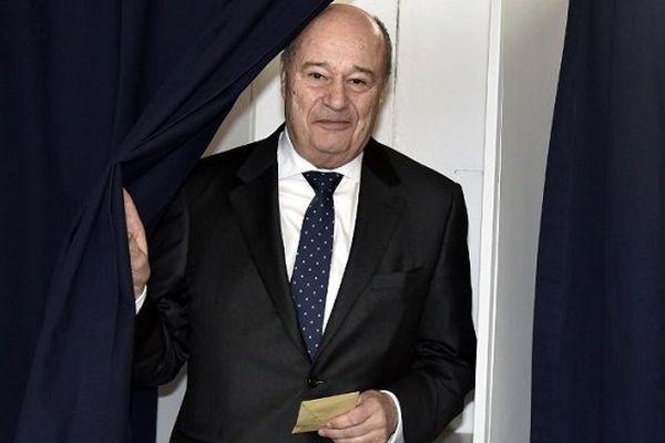 Jean-Michel Baylet (PRG) lors du 1er tour des élections départementales, le 22 mars 2015.
