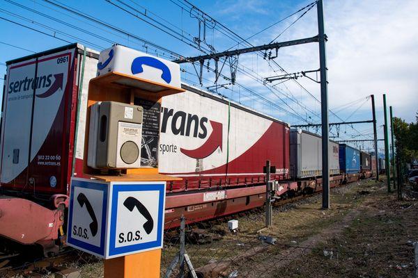 Le train de marchandise est tombé en panne au départ de Toulouse à 16h54.