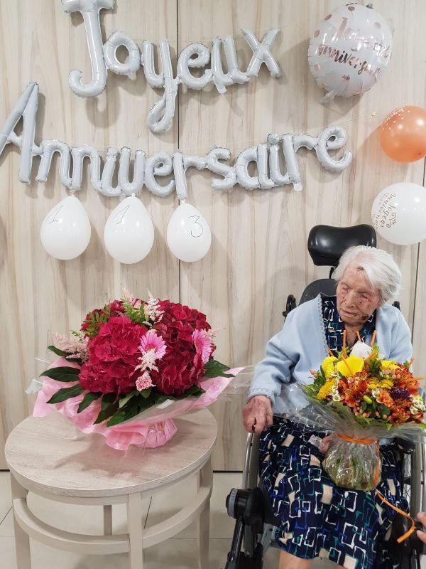 Marie Jousseaume, doyenne des Pays de la Loire, a fêté ses 113 ans le 17 juin 2020