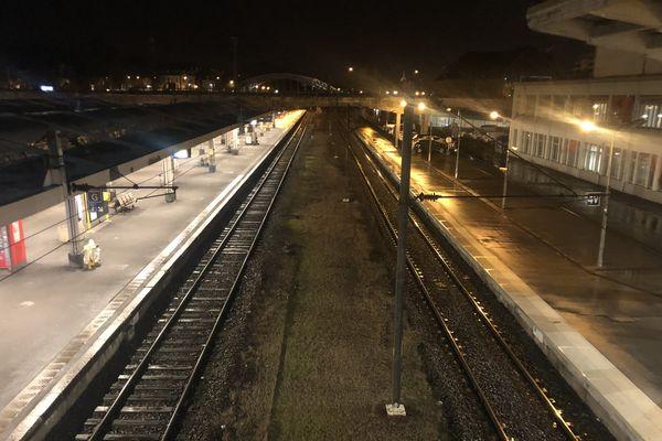 La gare de Mulhouse, jour de grève le 9 décembre dernier