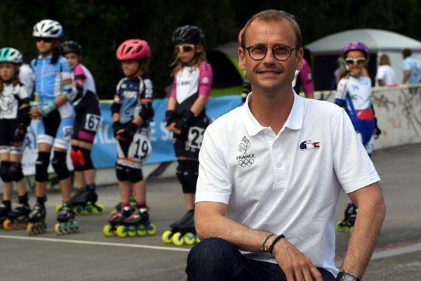 Nicolas Belloir, Président de la Fédération Française de Roller, à Saint-Brieuc pour le Championnat de Bretagne de Roller, le 2 juin 2018