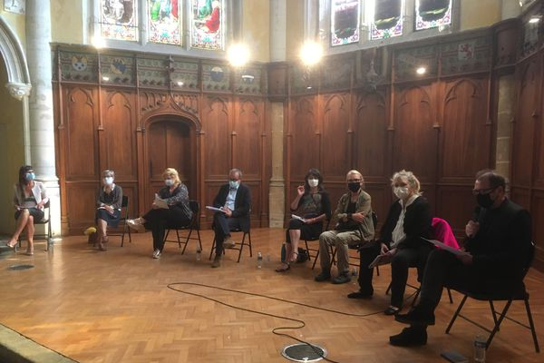 """Le collectif """"Scènes ensemble"""" tenait une conférence de presse ce lundi 7 septembre à Bordeaux."""