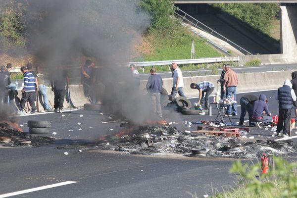 Les gens du voyage avaient bloqué l'autoroute A1 le 29 août dernier à hauteur de Roye (Somme).
