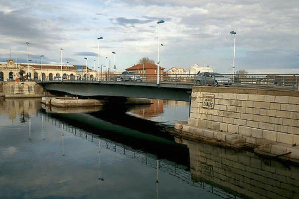 Sète (Hérault) - le Pont routier de la Gare - archives